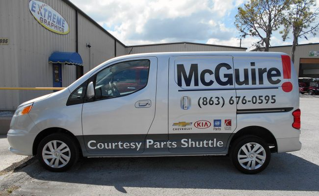 Commerical Vehicle Graphic Decals & Vinyl Lettering 01