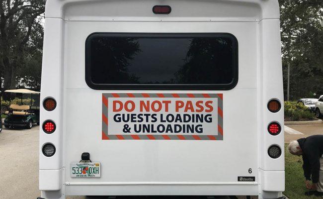 Custom bus decal lettering