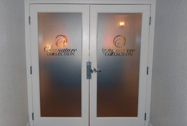 Window Lettering, Graphics, Etched and Clings