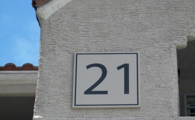 Signs Way Finding Building Number 06