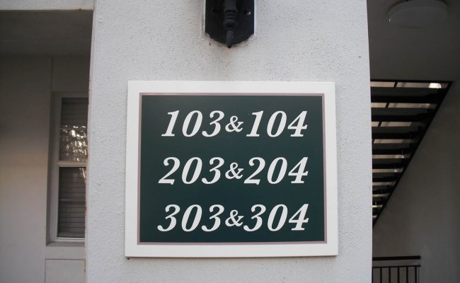 Signs Way Finding Building Number 08