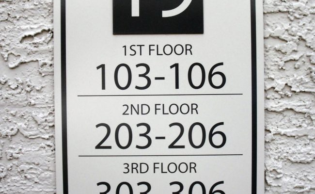 Signs Way Finding Building Number 09