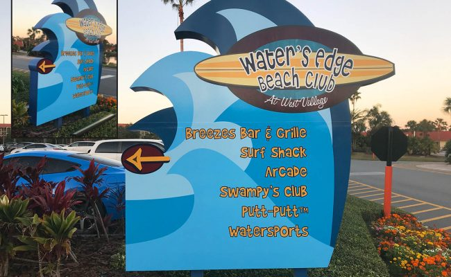 Custom Full Color Sign & Post 09