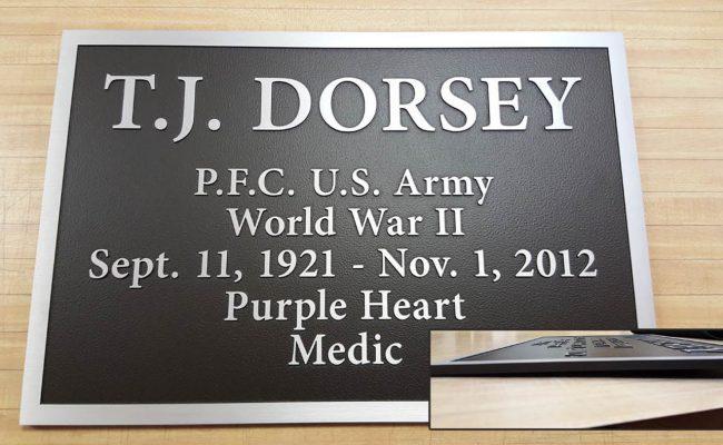 Custom bronze plaque 5